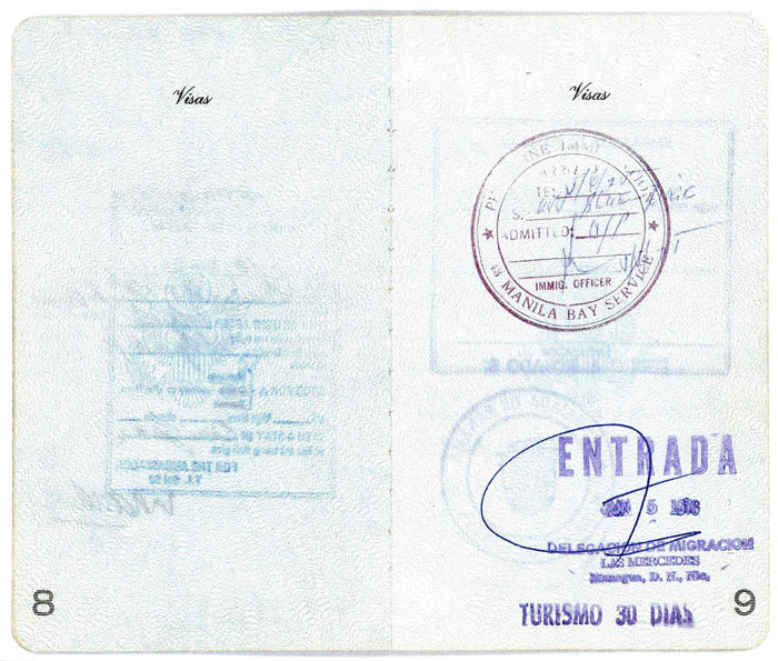 Bernie Winklemann Passport - pages 8 and 9