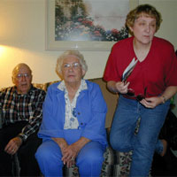 The Judge Family: From left to right.   Mr. Henry Judge (WWII Veteran), Mrs. Ida Judge and Darwin's sister Laura.