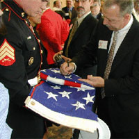 All the Saigon Marines signed a Star on the Flag given to the Judge Family.