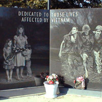 Vietnam Memorial paying tribute to the Veterans of this conflict and their families.